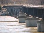 100404014 Ex-C&NW Carver Bridge Over Minnesota River During Spring Flood