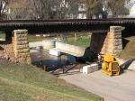 100404021 Ex-C&NW Bridge Over Main St. During Spring Flooding