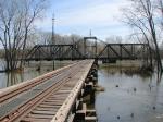 100404028 MN&S Savage Swing Bridge During Spring Flood