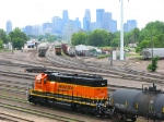 100616014 BNSF 1808 works the Northtown Pullout job