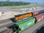 100823004 Westbound BNSF unit tank train passing Northtown Yard