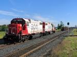 100901018 SOO 4405-4410 Wait Next To Work Train Loading MOW Equipment Near Foley Wye