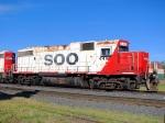 100901022 SOO 4410 Waiting Next To Work Train Loading MOW Equipment Near Foley Wye