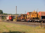 100901030 SOO 4405-4410 Wait Next To Work Train Loading MOW Equipment Near Foley Wye