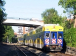 100901035 Eastbound 7-Car Northstar Commuter On Nicollet Island
