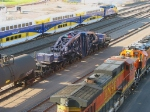100914384 Eastbound Northstar Commuter Passes Schnabel CCRX 40010 At BNSF Northtown Yard