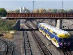 101009142 Northbound Northstar MNRX Commuter Passes BNSF Northtown Yard