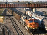101009151 Eastbound BNSF/COLX Coal Loads Passing Northtown CTC 35th Ave