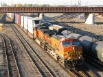 101009164 Eastbound BNSF Stack Train Passing Northtown CTC 35th Ave