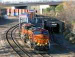 101030051 Eastbound BNSF Intermodal Stack Train Passes Westminster Jct. On Midway Sub.