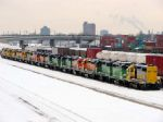 101218018 Stored locos at BNSF Northtown &quot;T&quot; Yard