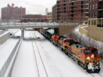 101225003 Eastbound BNSF KCK-Northtown Train Passing CTC Stadium On Wayzata Sub.