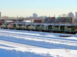 "101228001 BNSF SD60M New Arrivals Stored At Northtown ""T"" Yard"