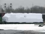 "101230008 BNSF 8147 With Shrink Wrap Cocoon Stored At Northtown ""T"" Yard"