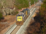 CSX 8567 running engines lite