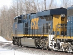 CSX 856 leads its train west