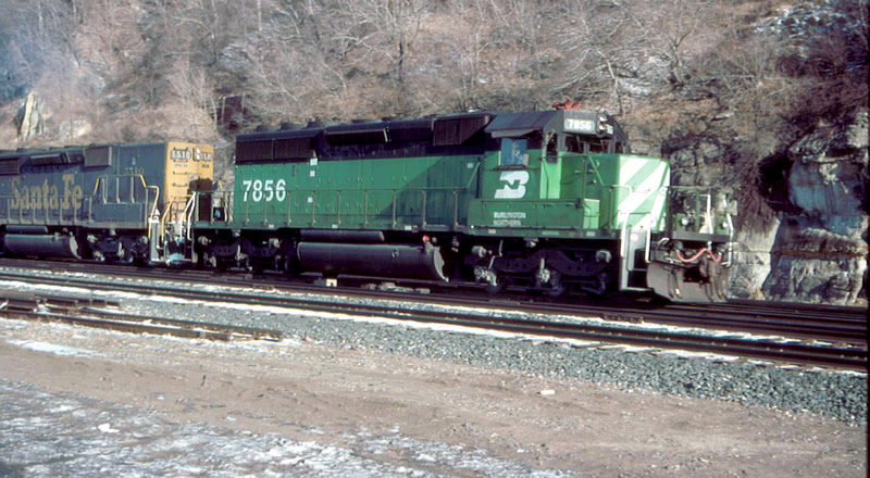 ex-C&S SD40-2 and a ATSF SD45-2B