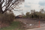 BNSF 9587 leads this coal train