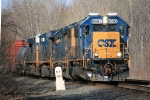 CSX Q626 with a fresh SD50-3 on the point