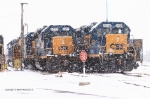 CSX GEEPS and Slugs cpongregate in Rochester yard