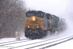 CSX Q364 in the snowstorm