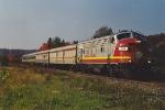 Passenger train rolls north