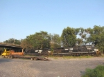 NS 7593, NS 9762 and a semi-flatbed in the CHW yard