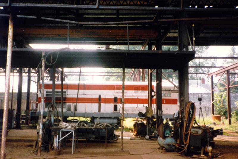 Yankeetown Docks engine