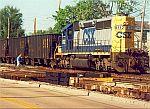 Ballast train at Butler St.