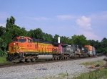 BNSF 4489 Northbound Out Of Inman Yard