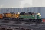 BNSF 8141, UP 6736 West