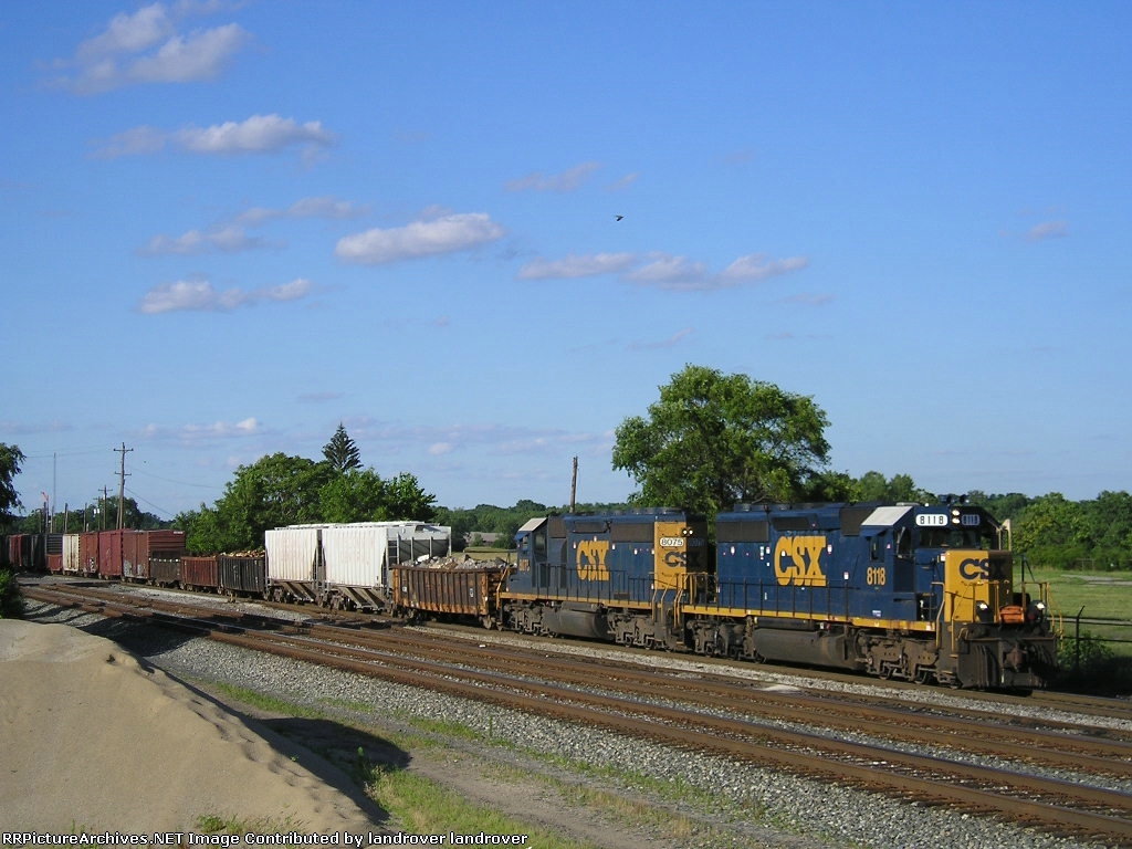 CSXT 8118 On CSX J 791 South