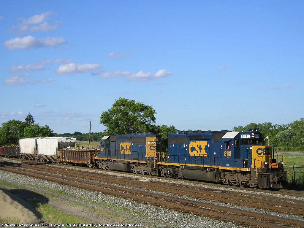 CSXT 8118 & CSXT 8075 On CSX J 791 South