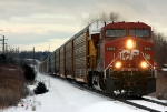 CP 9552 rolls east with X500-11