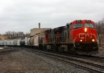 392 rolls through Durand with a slug in tow