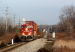 CP 8780 leading X500 through the sag