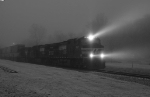 NS 214 Cuts Through Freezing Fog 0712 hrs