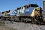 CSX 7839 fire damaged