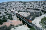 BNSF 1057 lead an e/b across bridge #6