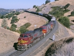BNSF 708 8266 738 is on the WP Feather River Route,