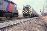 Amtrak s/b meets NJT n/b at North Race