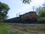 UP 6613  3Apr2010  NB MOW support waiting on the main line in SNEED