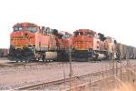 Loaded coal trains wait to enter MERC