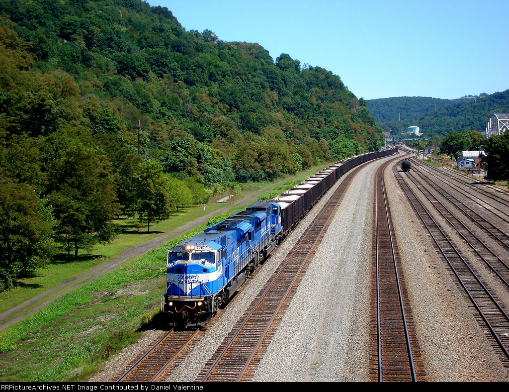 BIG blue moves west with a limestone train