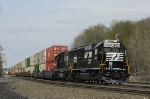 SD40E's shoving a container train