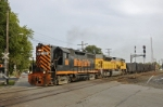 K388 is seen crossing Columbus Ave again. You can glimpse its train in the background just in front of the WLE unit