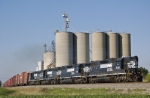 C37 passes the grain storage silos