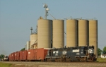 C37 passing the infamous grain elevators