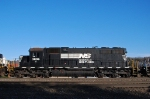 SD38 being hauled dead in a 10G consist