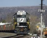 A very fresh 6312 shoving a 406 taconite train